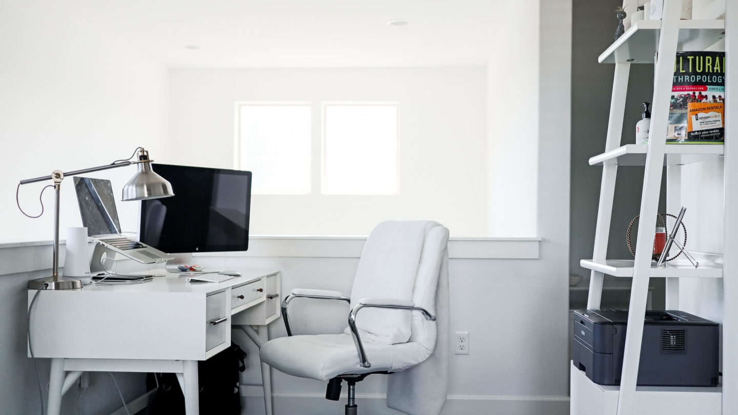 An at home office space.