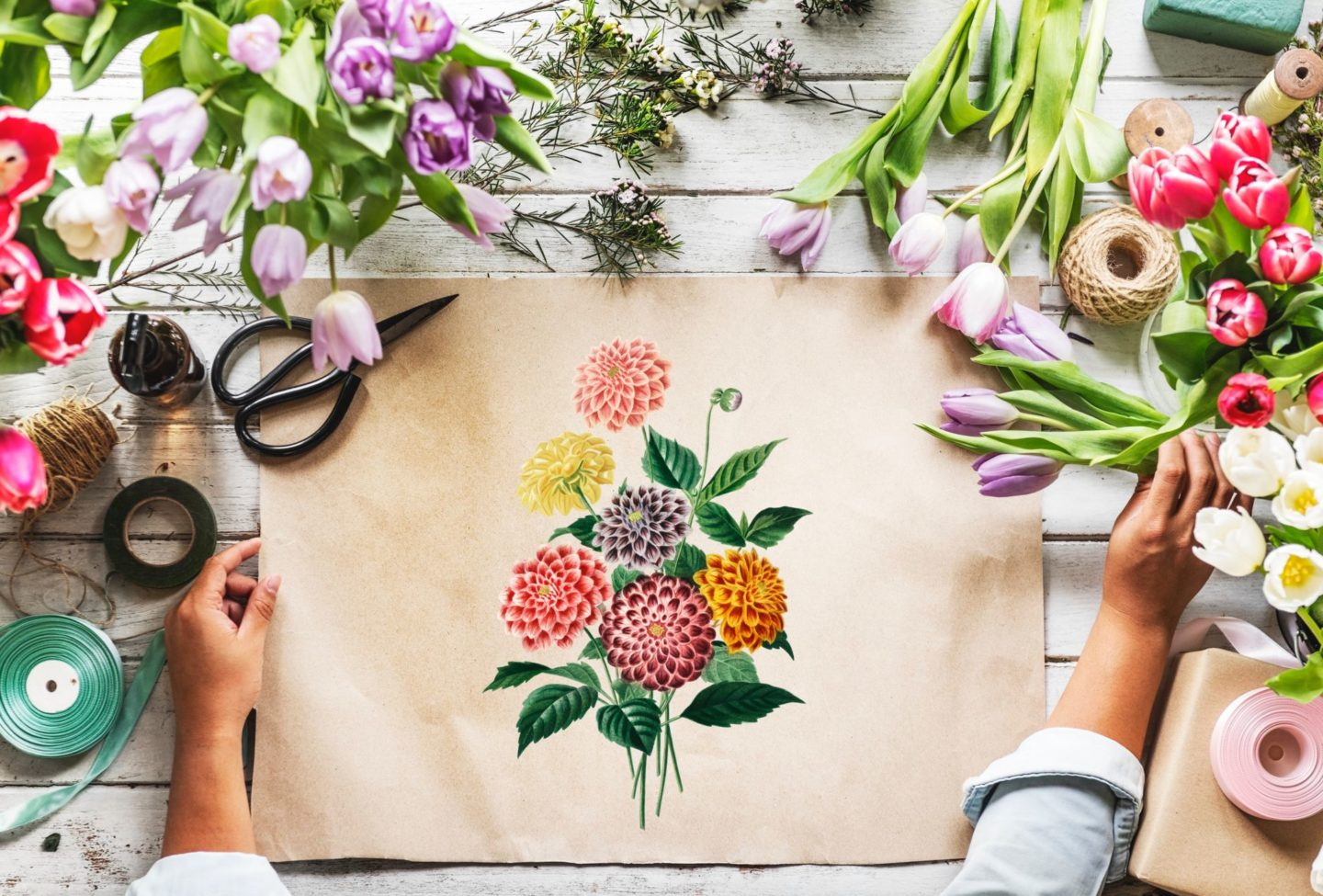 A flower arts and craft idea for a girls night.