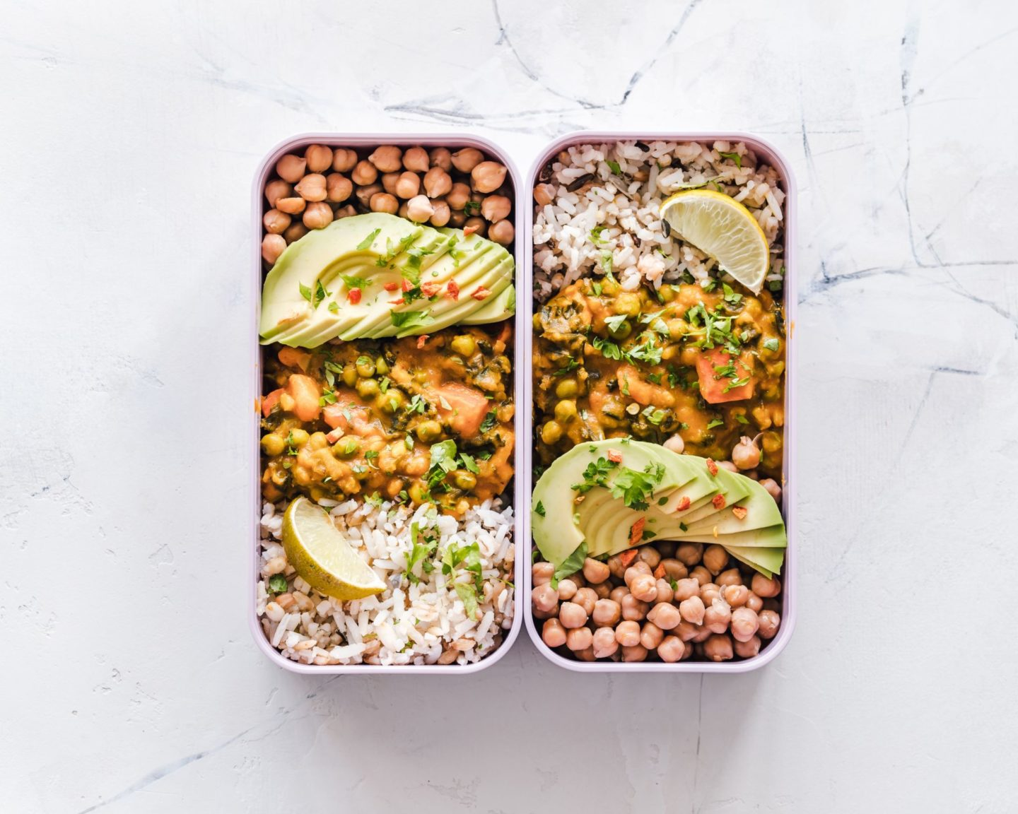 Mexican burrito bowl meal prep.