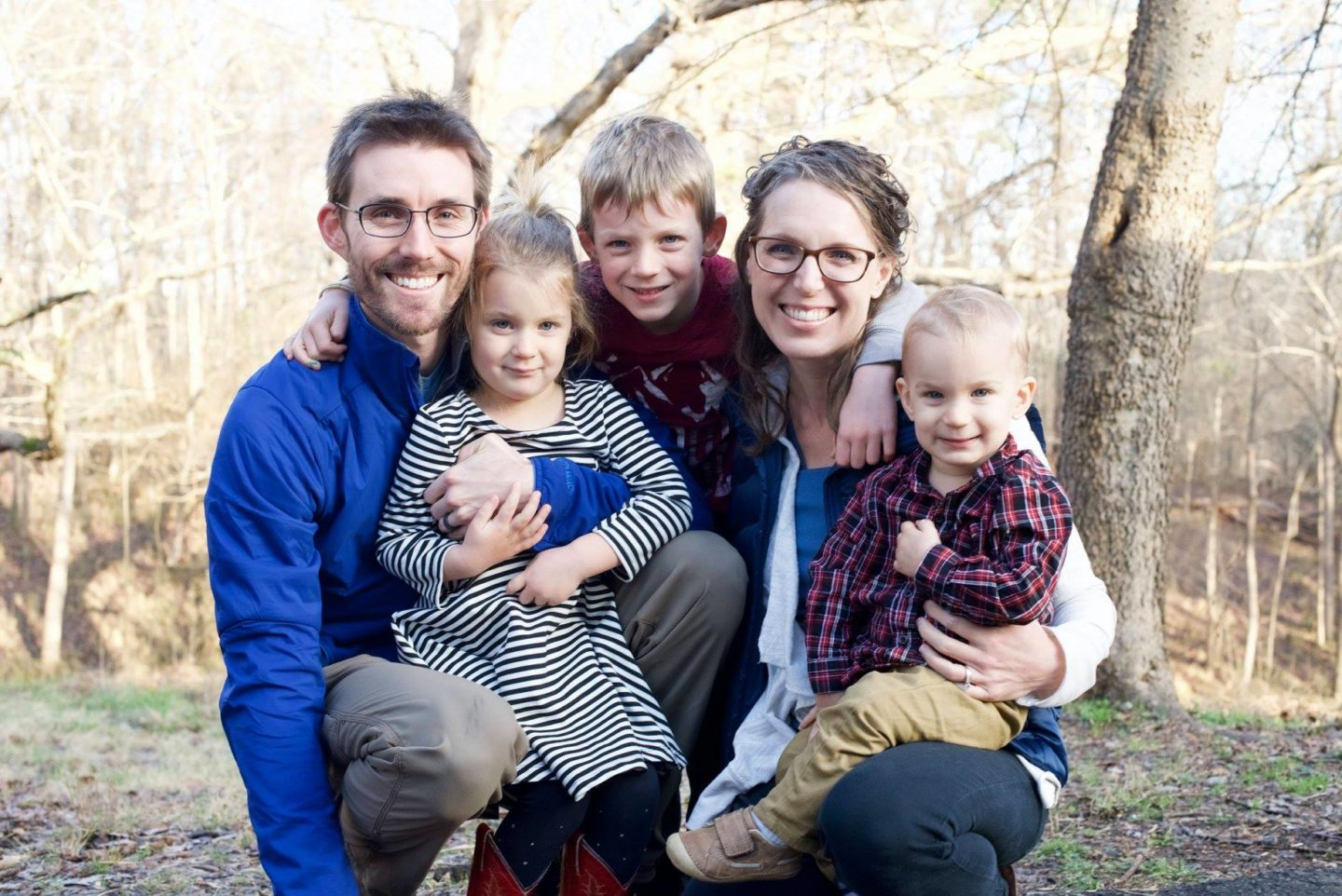 Photo of interviewee Keri Fosse and her family. In todays interview we are going over homestead tips.